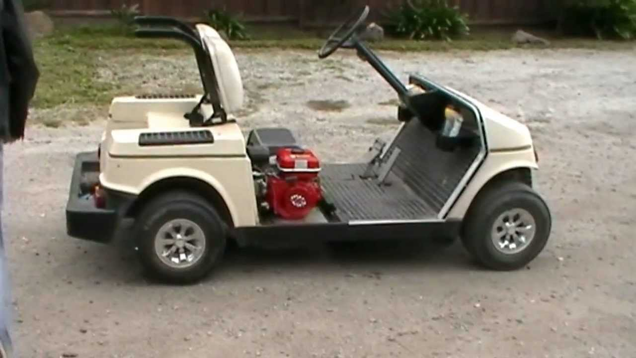 Electric To Gas Golf Cart Conversion Pt 6 With A Test