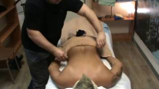 deep tissue back massage (spinal therapy, stones)