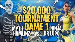 TSM Myth - MYTH & HAMLINZ VS NINJA & DR LUPO!!! (GAME 1) | (Fortnite BR Full Match)