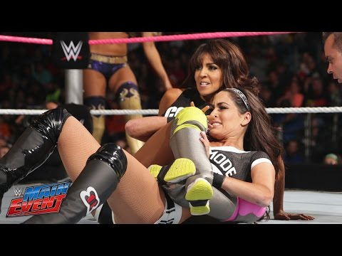 Brie Bella vs. Summer Rae & Layla - 2-on-1 Handicap : WWE Main Event, Sept. 30, 2014