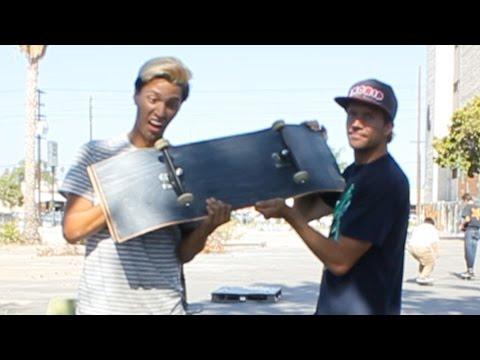 Skateboarding An Uncut Skateboard