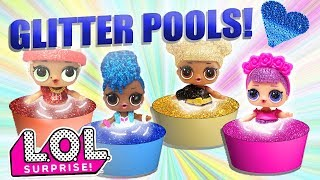The LOL Surprise Doll Glitter Series Learn Colors and make Glitter Pools!! Featuring Sugar Queen