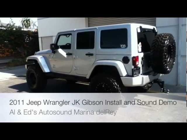 2010-2013 Jeep JK Wrangler Exhaust by Gibson w/ Metal Mulisha Tips  HOW TO and Sound