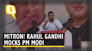 MP Polls: Rahul Gandhi Mocks PM Modi in a Public Rally | The Quint