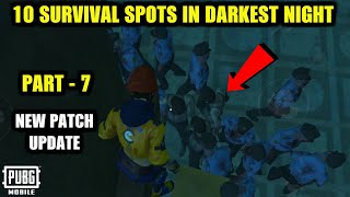 *NEW* 10 SURVIVAL SPOTS TO SURVIVE FROM ZOMBIES IN EVOGROUND DARKEST NIGHT MODE   PUBG Mobile 0.12
