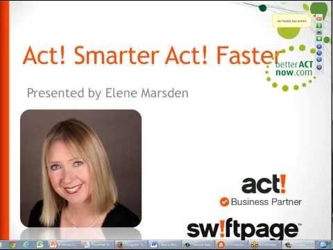 Swiftpage Act Webinar with Elene Marsden -betterACTnow