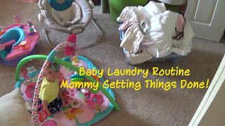 Baby Laundry Routine (DITL Style): Mommy Getting Things Done