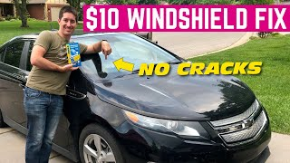 How To REPAIR A Windshield Chip or Crack At HOME For $10 *Saved $500*