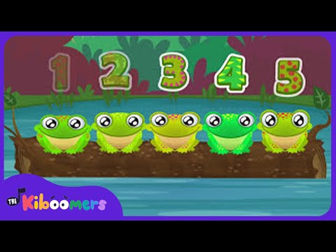 5 Green and Speckled Frogs | Song for Children
