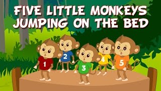 Five Little Monkeys Jumping on the bed nursery rhyme | Children nursery rhymes