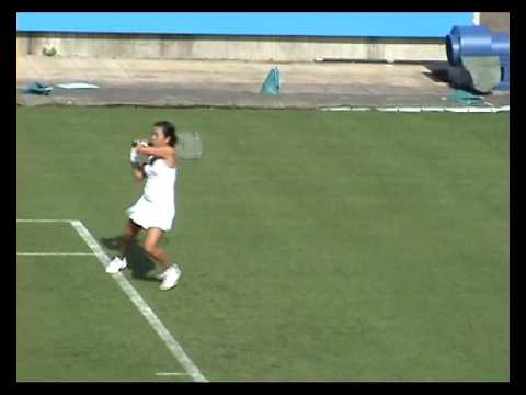 Vania King in Eastbourne 2009 qualies Video
