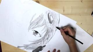 Rei Ayanami - Charcoal Drawing [Speed art]