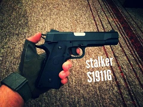 Недорогой пневматический пистолет Stalker S1911G