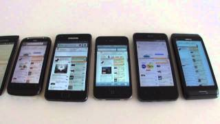 Displays: SE XPERIA arc vs HTC Desire S vs  LG Optimus 2X vs iPhone 4 vs Samsung Galaxy S II  vs E7