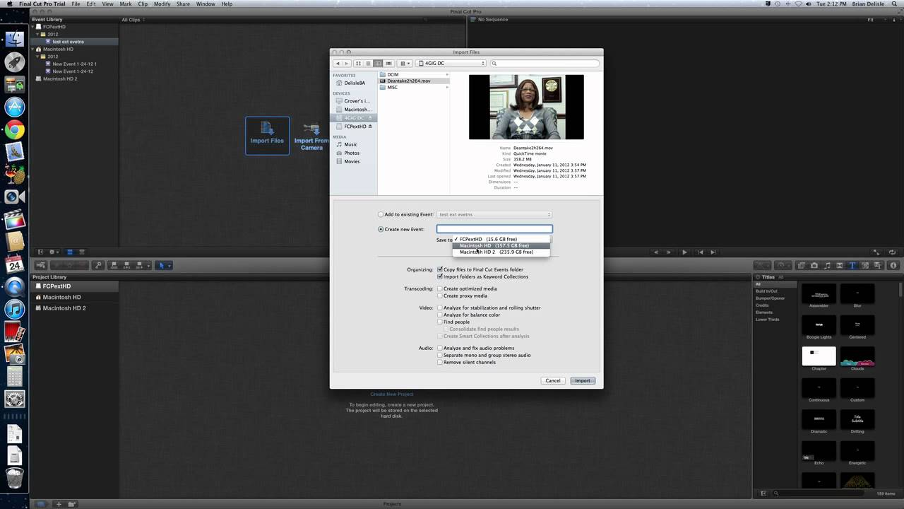 how to use final cut pro trial