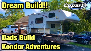 I Bought My Dads Kondor adventures Dream Wrecked Build from copart Salvage Auction & Going To Fix It