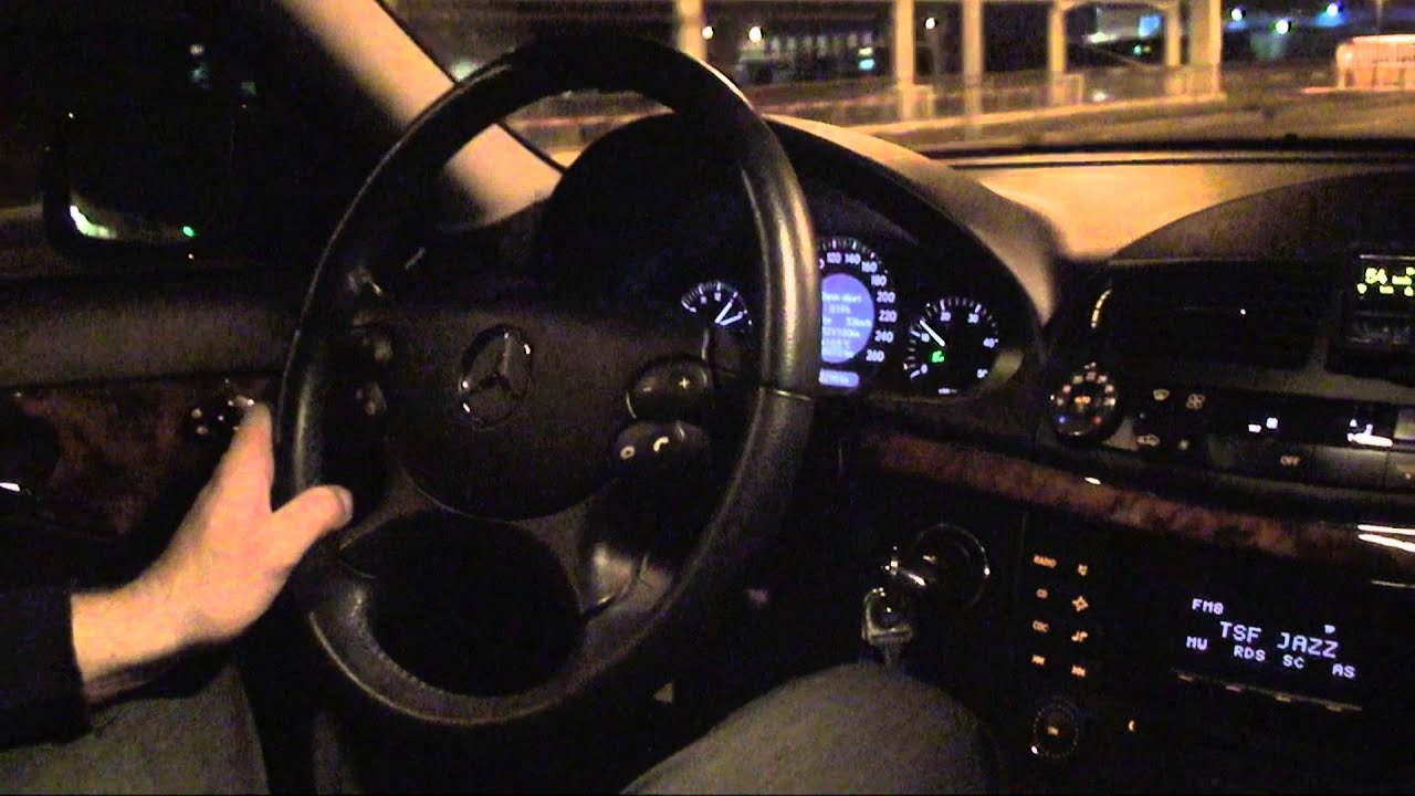 Mercedes E 280 Cdi Night Driving Youtube