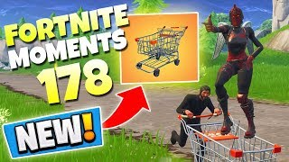 *NEW* SHOPPING CART UPDATE IS HILARIOUS! (SECRET DISCO ROOM) | Fortnite Best & Funny Moments Ep. 178