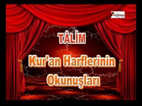 Talim Kuran Harflerinin Okunuşları 01 Sümbül Efendi Erkek Kuran Kursu  |  SÜMBÜL TV