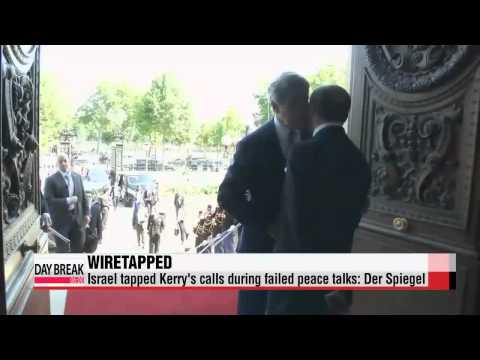 Israel tapped Kerry's calls during peace talks: Der Spiegel