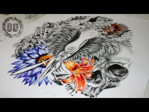 Khmer half sleeve tattoo