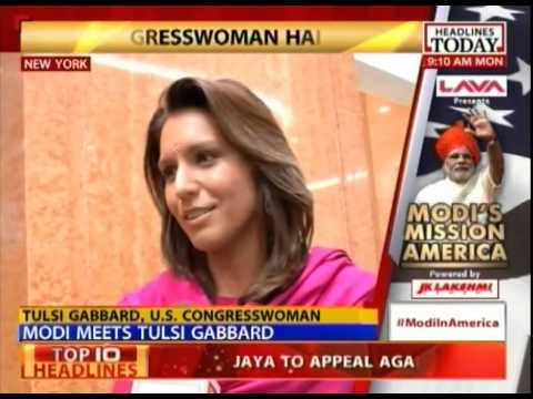 Narendra Modi meets US Congress woman Tulsi Gabbard