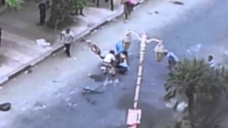 Egypt Riots   Tanks Shooting At Fleeing Protesters  11/3013