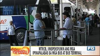 MTRCB mag-iinspeksyon sa mga bus bago ang Semana Santa