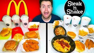 MCDONALD'S vs. STEAK 'N SHAKE - Fast Food Restaurant Taste Test!