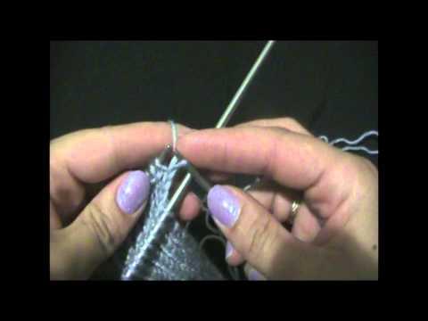 Уроки вязания спицами.  Как вязать носок. Часть 2.