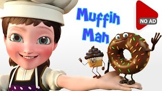 AD-FREE Nursery Rhymes | Do you know the muffin man? 10 Min Animated Nursery Rhyme Mix for Kids