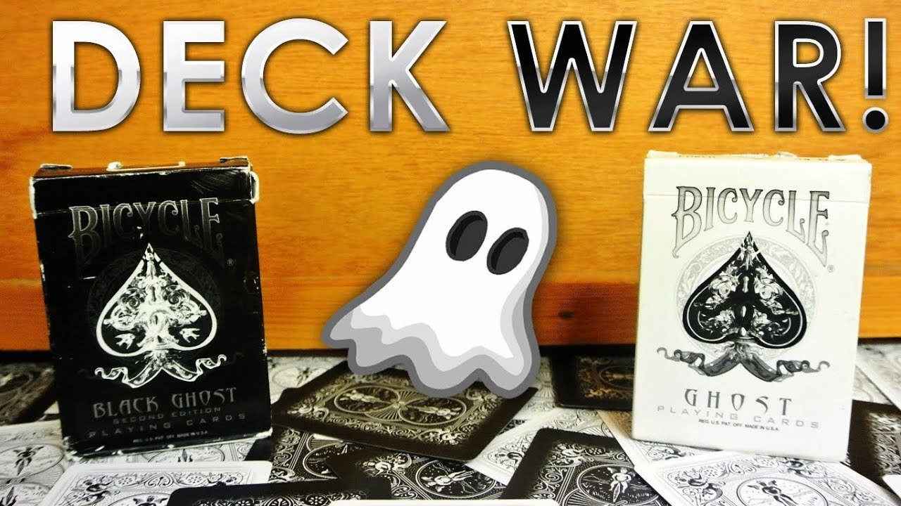 Deck War Bicycle White Ghost
