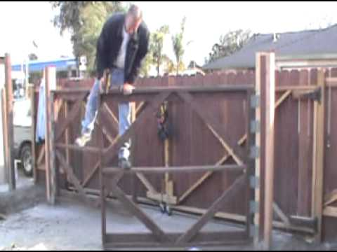 How To Build A Double Swing Wood Gate
