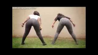 2 Cute Sexy Chicks Twerkin Ratchet In Tight Leggins Booty Clappin Bend Over (MUST SEE)