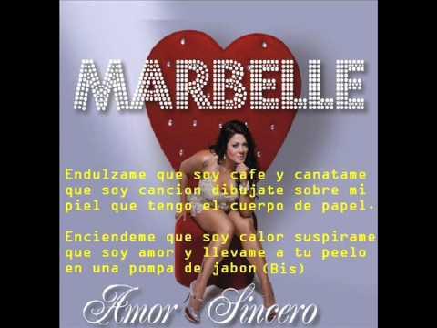 Marbelle   Amor sincero letra