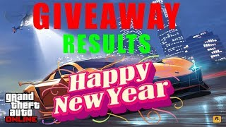 GIVEAWAY RESULTS    HAPPY NEW YEAR 2K18