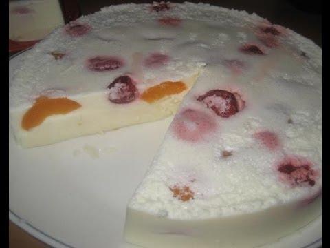 Обалденный Десерт крем желе без выпечки
