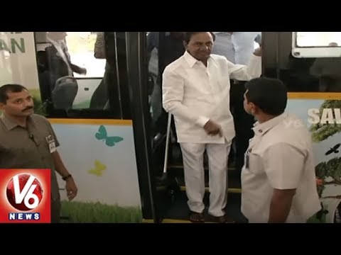 CM KCR For Electric Vehicles To Make Hyderabad a Pollution-free City | V6 News