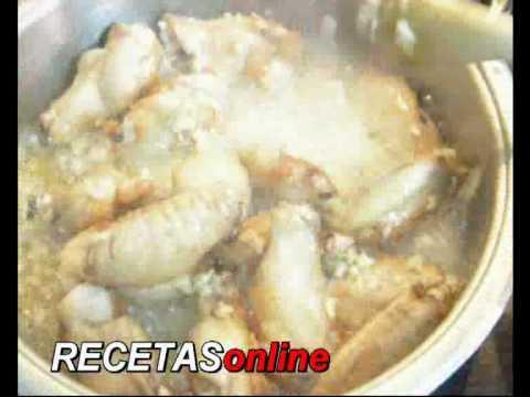 Alitas de pollo al ajillo - Receta de cocina RECETASonline