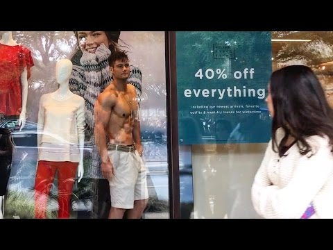 Posing Shirtless in Clothing Stores | Mannequin Challenge Extras