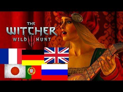 Ведьмак 3 - Песня Присциллы на разных языках [Multilanguage]