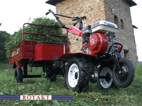 Remorca motocultor Rotakt 400 Kg - Rotakt - Prezentare si functionare