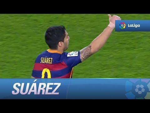 Póquer de goles de Suárez en el FC Barcelona - Sporting de Gijón