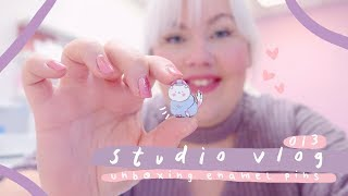 STUDIO VLOG 013: Unboxing new Enamel Pins