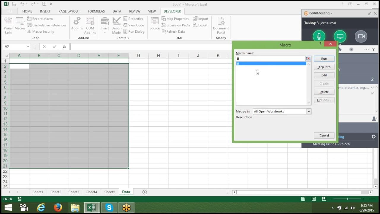 Excel Macros Templates