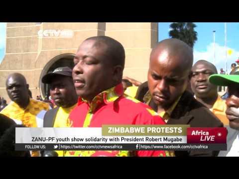 ZANU-PF youth show solidarity with President Robert Mugabe