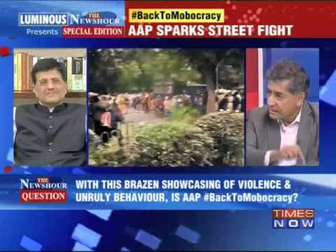 Shri Piyush Goyal in TV Debate on Times Now - 05.03.2014