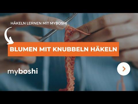 Häkeln Lernen - Blumen Mit Knubbeln Häkeln