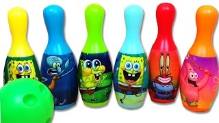 Spongebob Squarepants Toys Nickelodeon Spongebob Bowling Set With Patrick Kids Toys Unboxing