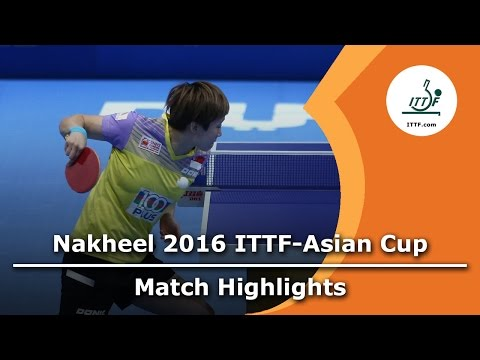 2016 Asian Cup Highlights: Feng Tianwei vs Tie Yana (3rd Place Match)